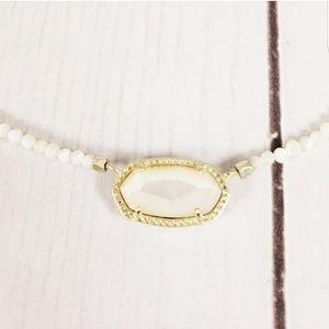 Kendra Scott Elisa Beaded Necklace Ivory